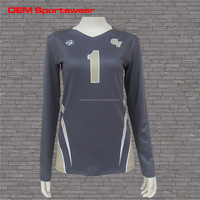 2016 NEW best sale women sublimated volleyball uniform designs