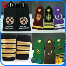 Custom rank stars bar design officer military uniform epaulette for sale