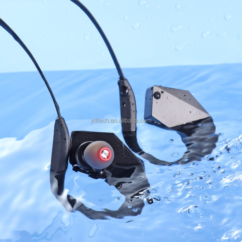 IPX8 Waterproof Sports <strong>Bluetooth</strong> 4.1 EDR Headset ear hook Swimming headphone 8GB MP3 function