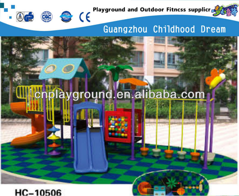 HI BUDDY ,LET'S GO TO PLAY !!!!! OUTDOOR KIDS WOODEN PLAYGROUND EQUIPMENT (HC-10506)