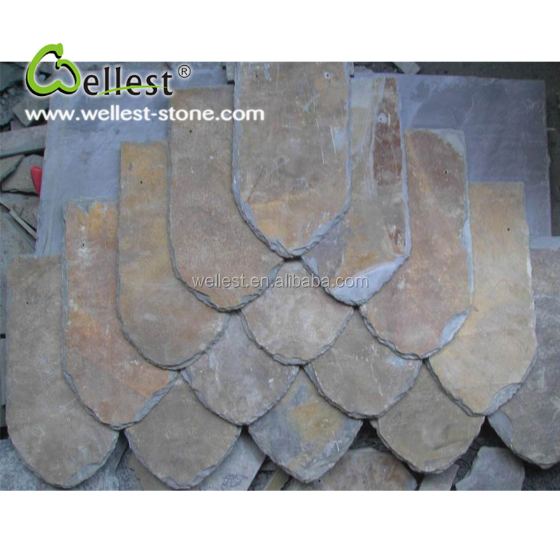 Wholesale Natural Surface Split Edge Rusty Slate Roof Tile