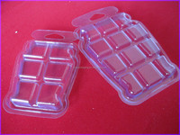 Disposable clam shell pack box for wax melt