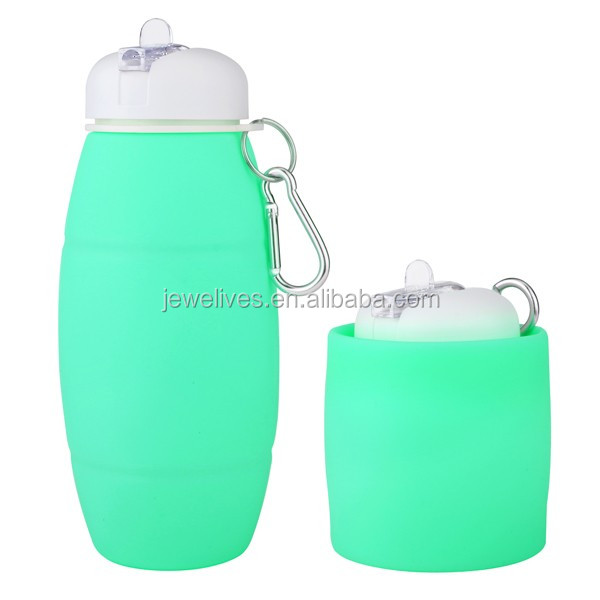 Good Business Ideas Promotion Silicone Portable Water Bottle