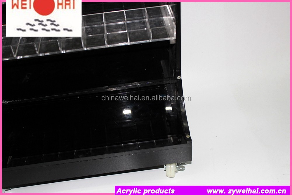 Black Acrylic Nail Polish Display Floor Stand