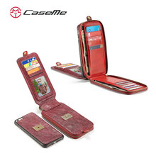 Wallet Style Magnetic Slim Leather Phone Case For Iphone 6s Plus Case, For iPhone7 Leather Case, CASEME Custom Case for iPhone6