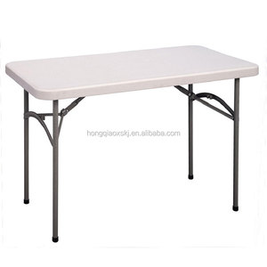 4 foot Hot selling High Quality plastic folding table with low price, small plastic folding table for children study, dinner