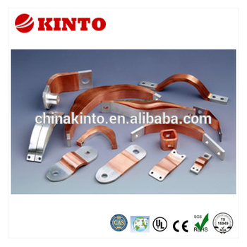 New design car battery copper terminal, flexible laminated connector