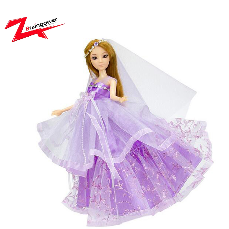 Lifelike real cute princess dress silicone girl doll baby