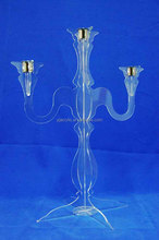 acrylic lucite candelabras for home/hotel dining hall/restaurant