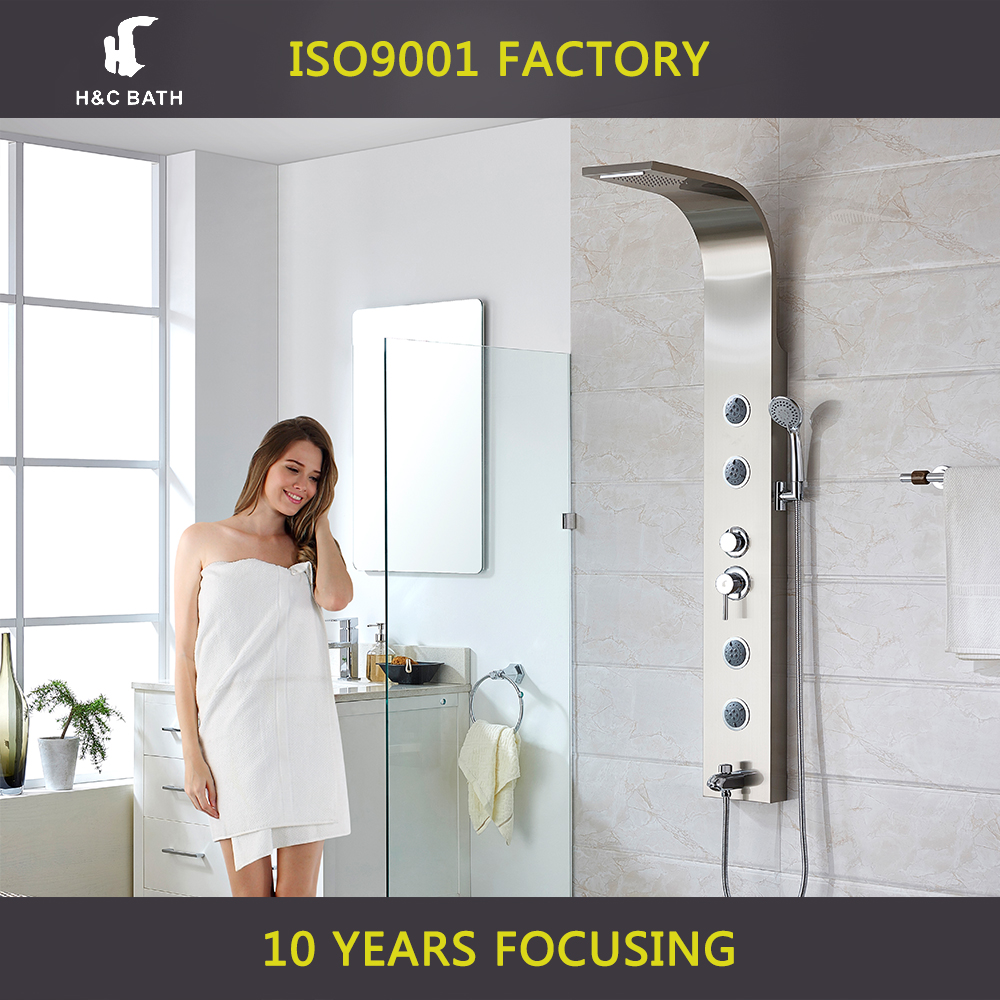 Shower Panel Tower Rainfall Style System Easy Connect Massage