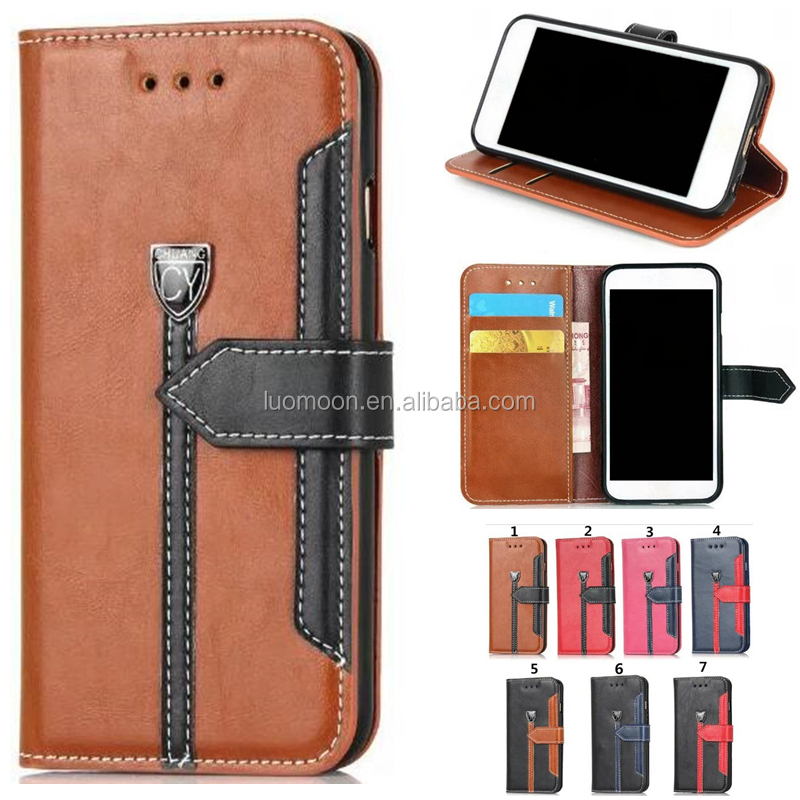 flip stand PU leather phone case cover with card holders for Apple iphone 7 6 6s 6s plus 5 S 4 SE A C mobile accessories