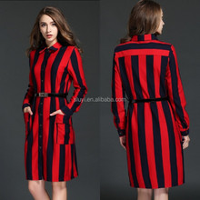 Women office dress style,suit dress long design small quantity clothing manufacturer single-breasted with pockets front