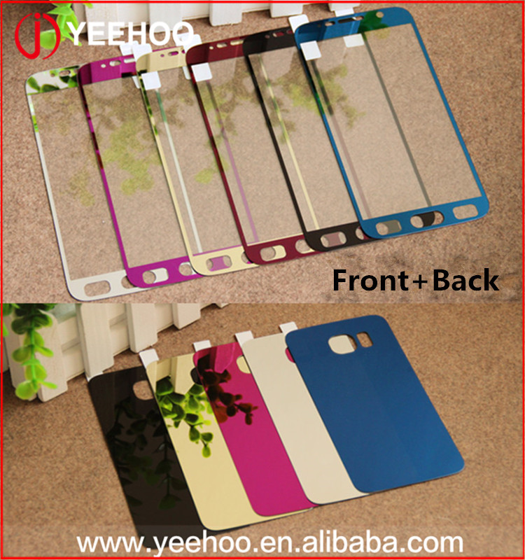 Colorful smartphone screen protective film Front + Backing Protective Film For samsung galaxy S6 screen