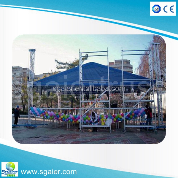 12x10m Concert Turss 6082 3mm Aluminium truss/windproof truss with wings