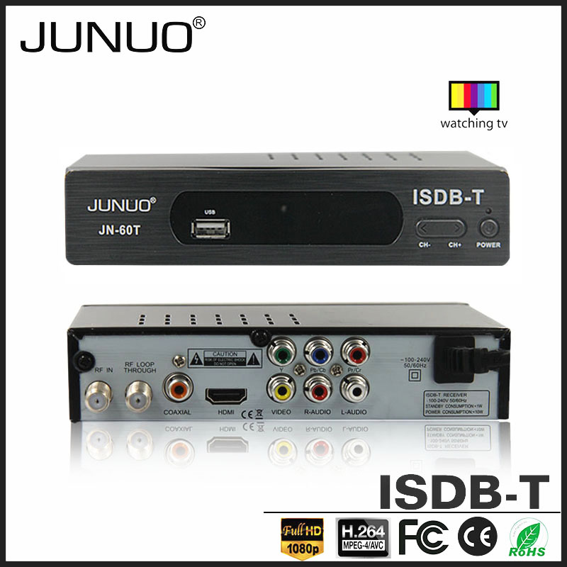 JUNUO china manufacture OEM 1080P full HD suport HDD free to air hd tv isdb-t