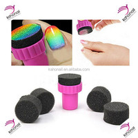 1PCS Manicure Sponge Nail Art Stamper Tool With 5PCS Sponges For Nail Art