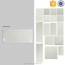 glossy ceramic wall tile 75x150, pure white kitchen and bathroom indoor tiles cheap