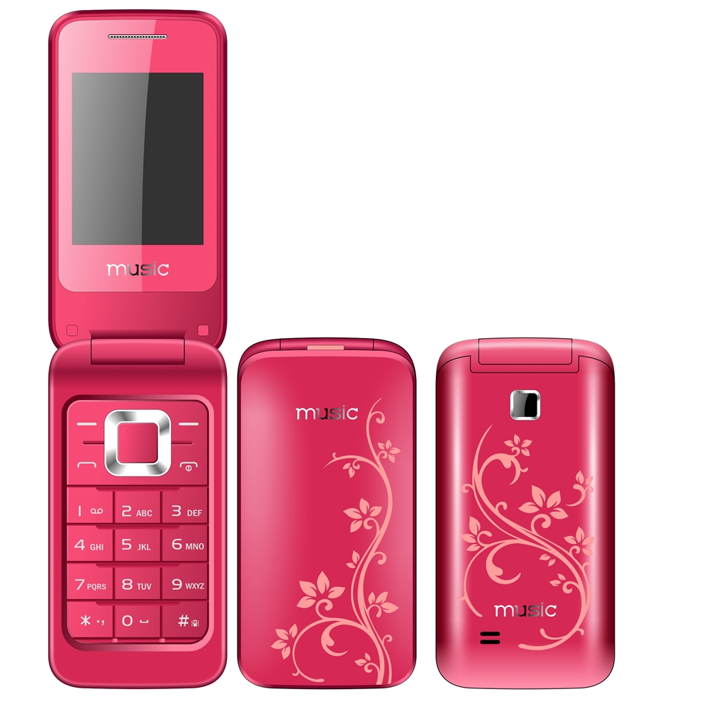 most popular in Chile flip mobilephone 2.2 inch LCD flip phone 3520 WhatsApp color variety movil