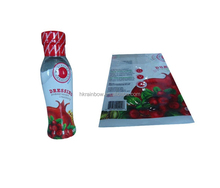 Customized design PET / PVC / POF heat shrink sleeve label for shaped bottle or cap