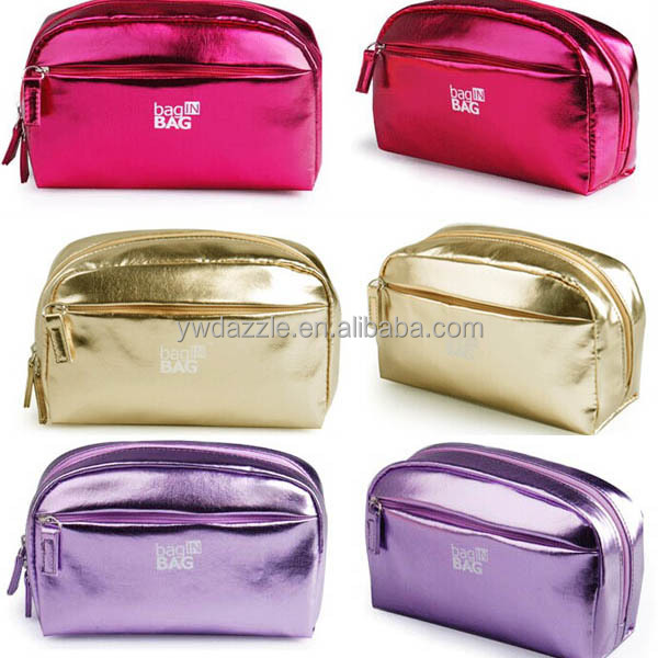 2018 promotional private label leather make up bag makeup bag Cosmetic Bag can be customized