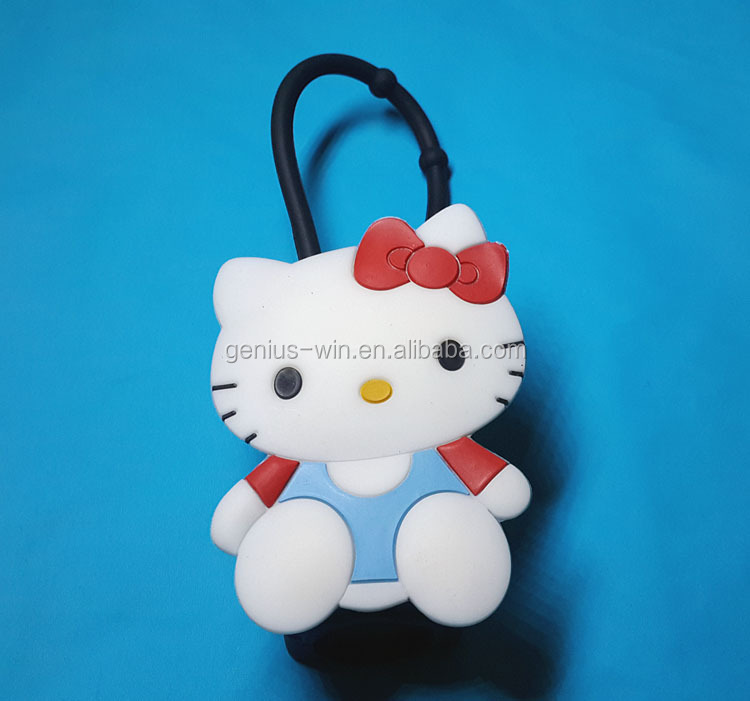 Bath & body works KEYCHAIN Hello Kitty Silicone SANITIZER holder 30ml cartoon hand sanitizer holder