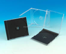 2016 10.4mm ps plastic black cd jewel case/ funny single cd box