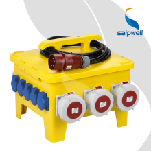 Saip Saipwell International Standard High Quality Custom OEM ODM Waterproof IP65 China Industrial Mobile Power Socket Box