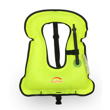Professional sale Light Weight Polyester Adults Kids swim safety inflatable life snorkel vest