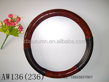 safe new design wood grain steering wheel cover 16 inch