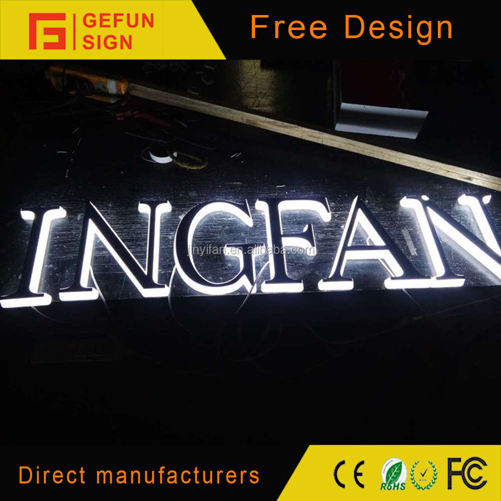 Cheap bright side lit led channel letter outdoor led for Cheap channel letter signs