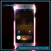 TSJ0035 led Flash light for iphone 6 tpu pc led light case exquisite trendy led mobile phone case for iphone5
