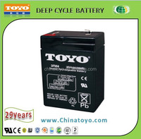 6V 4 AH Rechargeable lead acid battery , AGM battery for Emergence light and security system