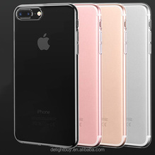 for iphone 7 plus clear Case , TPU Transparent Skin Clear soft Back cover Soft Case 1.0-1.2mm