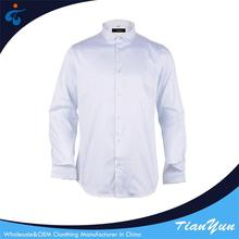 100% cotton breathable long sleeve white official shirts for men