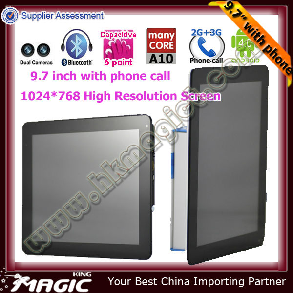 Only android allwinner 9.7 tablet pc pc 3g sim card slot