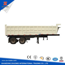 3 Axle used hydraulic cylinder dump / Tipper Truck Semi Trailer for Sale