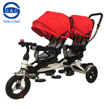 Hot selling large space baby twins tricycle,baby tricycle china