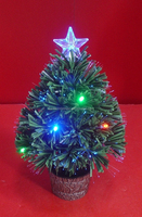 Fiber Optic Table Mini Christmas Tree with Battery