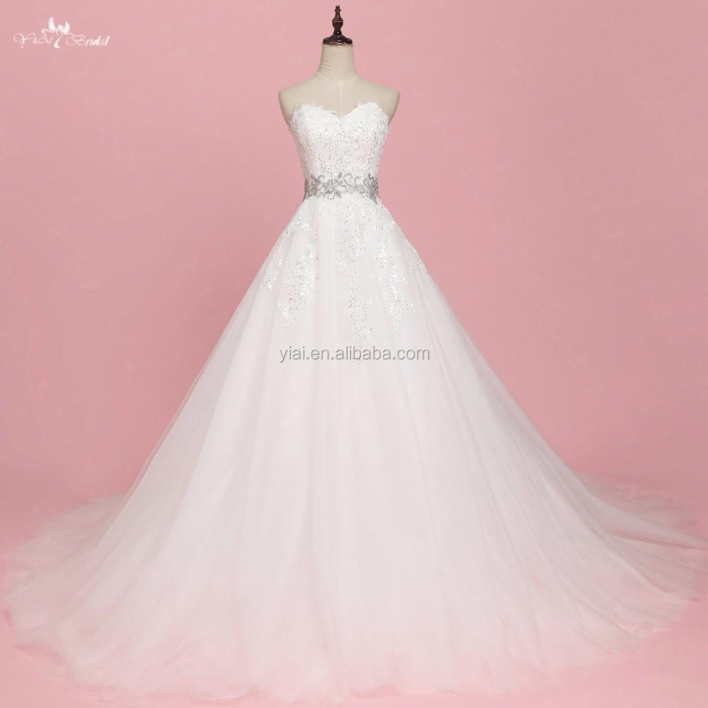 RSW1065 lujo Bling rhinestone Crystal vestidos de novia de la boda ...