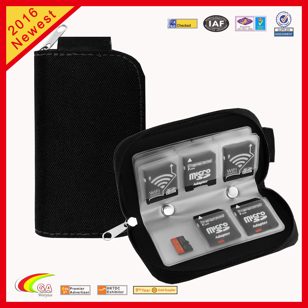 Zipper <strong>Nylon</strong> 22pcs Memory SD Card Storage Carrying Case Bag