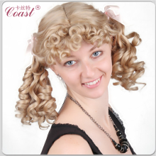 cute short synthetic blonde curly ponytails hair styles