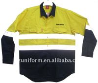 reflective tapes cotton shirt work wear(SL730)