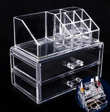 Clear acrylic cosmetic display box