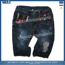 New promotion mens dark blue jean shorts with good price