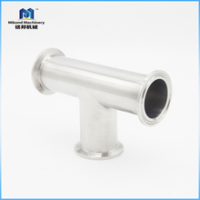 Top Quality Customized Size Food grade Clamped t connector pipe