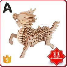 Top sale cheap price hot factory supply intelligent diy 3d wooden puzzle toy