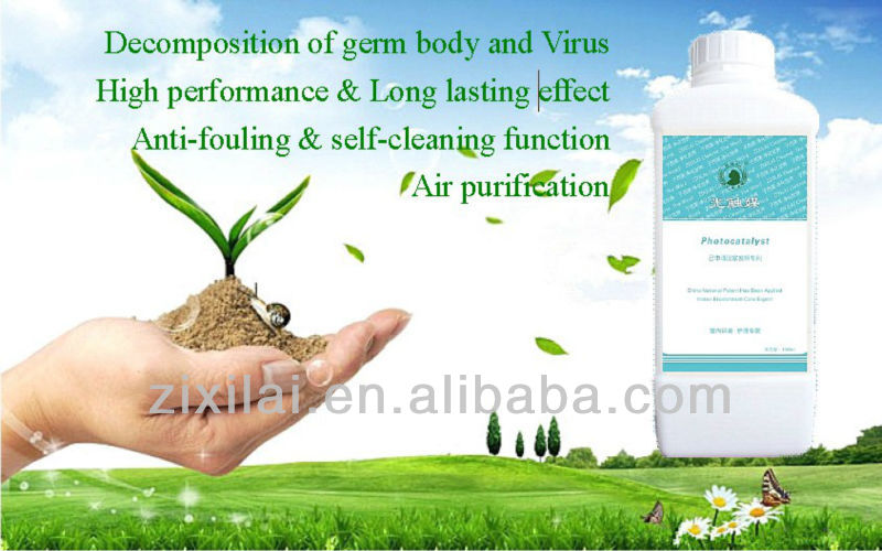 Self cleaning & Air purification Nano Tio2 Photocatalyst Liquid Coating