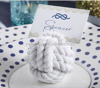 Office table decoration Nautical Rope Place Card Holder (Set of 6)