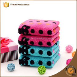 Soft cotton towel cute couple towel round dot children's towel