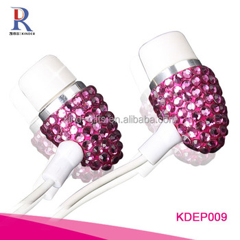 Bling Bling Crystal Sex Women Earphone EarBuds